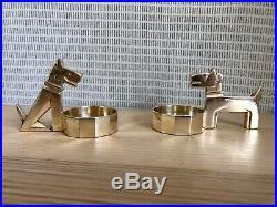 Ric & Rac, 2 Salerons Chiens Gallia / Christofle en métal argenté Art Déco