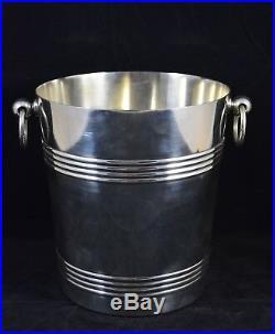 SEAU A CHAMPAGNE, CHRISTOFLE collection Gallia, métal argenté