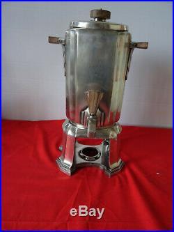 Samovar sur socle métal argenté Gallia- Art Déco
