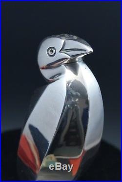 Saupoudreuse Cormoran Pingouin Gallia Sandoz Christofle métal argenté Art Déco
