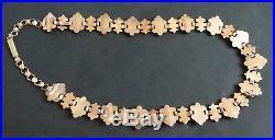 Sautoir collier argent massif ordre fleur de lys royaliste médaille medal