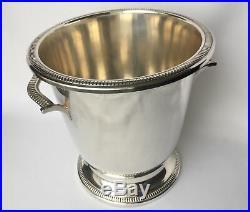 Seau A Champagne Ou Rafraichissoir En Metal Argenté Saint Medard 30 1930 E308