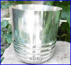 Seau à Champagne 1930 Métal Argenté Ice Bucket d'époque Art Deco