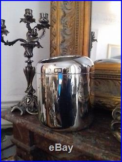 Seau à Champagne Art Déco Rafraichissoir Christofle en Métal Argenté Ice Bucket