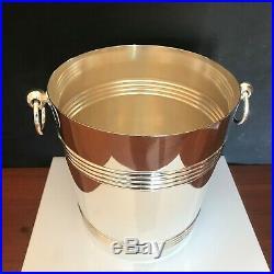 Seau à Champagne Christofle, collection Gallia, métal Argenté, xx°