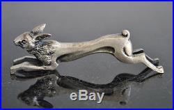 Série porte couteaux métal argenté animaliers 1930 art déco