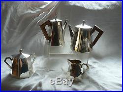 Service A The / Cafe En Metal Argente Art Deco Bon Etat