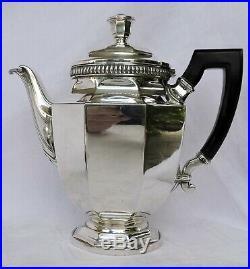 Service The Cafe En Metal Argente Christofle Gallia Christofle Art Deco 5 Pieces