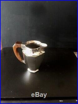 Service à Thé / Café Art Déco GALLIA en métal argenté et palissandre