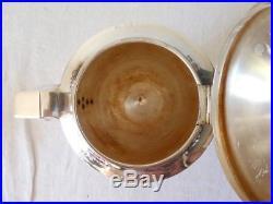 Service à café ART DECO en métal argenté FRANCOIS FRIONNET