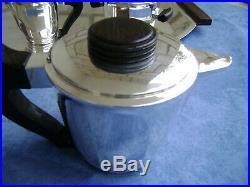 Service à café et thé en métal argenté 5 pièces François FRIONNET
