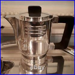 Service à café et thé en métal argenté art deco