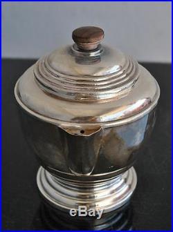 Service à chocolat et café 1930 métal argenté