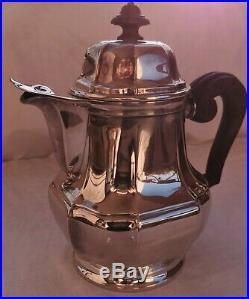 Service à thé café CHRISTOFLE art déco argent massif minerve