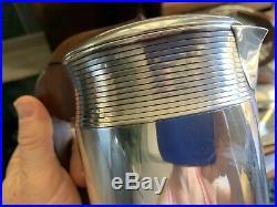 Service à thé café complet en argent massif HENIN et Cie- 1400 gr ART DECO