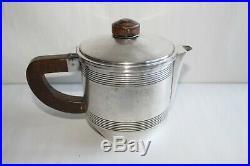 Service à thé/café époque Art déco métal argenté poinçon A. C et une abeille