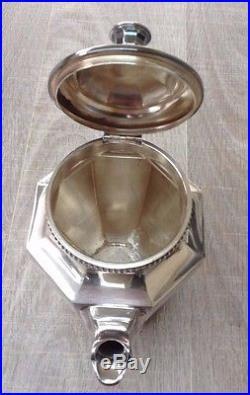 Service à thé et café en métal argenté art déco orfèvrerie Gallia Christofle