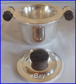 Service art déco métal argenté palissande Ravinet Denfert