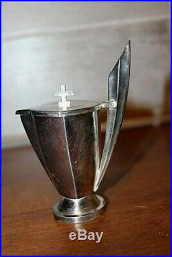 Service de burettes en métal argenté Art Déco années 1930 (Rare)
