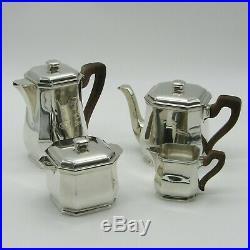 Service thé café art déco en argent, orfèvre Tétard Frères, début XXe siècle
