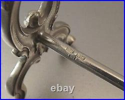 Sfam Chambly 12 Porte Couteaux Forme Treteaux En Metal Argente Vers 1930