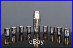 Shaker à cocktail de casino motif Poker métal argenté