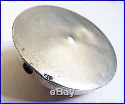 Sonnette de table en argent massif et émail vers 1920 Art Deco silver enamel