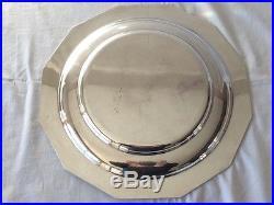 Soupiere / Legumier en métal argenté ART DECO