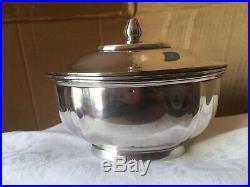 Sucrier Argent Art Déco CARDEILHAC Silver Sugar Bowl