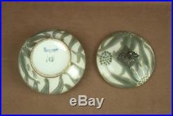 Superbe Boite En Porcelaine Epoque Art Deco Camille Tharaud Fretel Argent