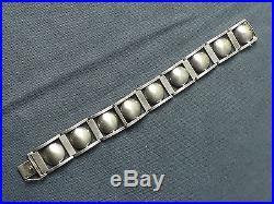Superbe Bracelet Art Déco en Argent Massif. Travail Moderniste. Circa 1925/30