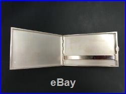 Superbe étui à cigarettes argent massif Art Déco / Solid silver cigarette case