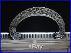 Superbe grand plateau Art déco poinçon métal argenté Old tray silver plated 1930