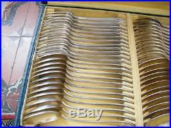 Superbe ménagère style Art déco Orbrille en métal argenté sur 3 plateaux coffret