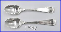 Tetard Freres 12 CUILLERES A MOKA ARGENT MASSIF MINERVE ART DECO silver spoon