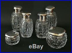 Tétard Frères & Baccarat, Nécessaire salle de bain en cristal et argent