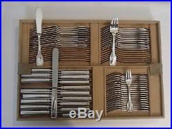 Tetard Menagere 202 Pieces En Argent Massif Poincon Minerve Epoque Art Deco