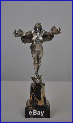 The WEST WIND bronze argenté XXème siècle période art déco