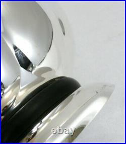 Très beau saladier, coupe Art Déco Christofle/Gallia, métal argenté et ébène