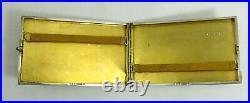 Très bel étui à cigarettes argent massif, Art Déco, cabochon, 152 g