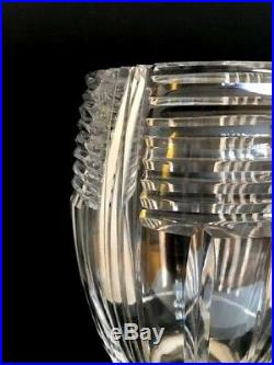 VASE Art Déco en cristal clair taillé Val Saint Lambert métal argenté poinçon
