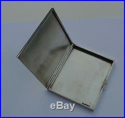 Vintage Hermes Boite Etui a cigarettes en argent massif Sterling silver case box