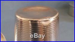 +++ shaker Christofle Gallia Luc Lanel Normandie ondulation métal argenté +++
